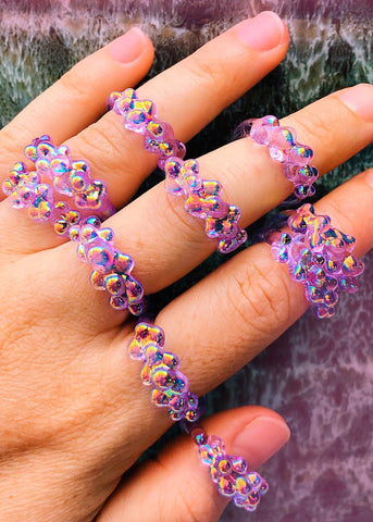 Aura Dots Ring - Lilac
