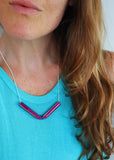 Aura V Tube Necklace - Choose Your Color