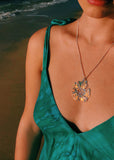 Aura Floral Pendant Necklaces - Clear