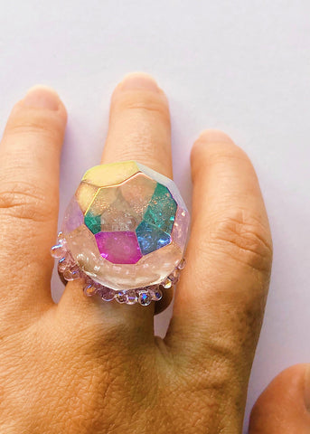 Aura Disco Ball Ring - Size 9.75