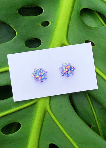 Aura Cluster Dot Earrings - Lilac