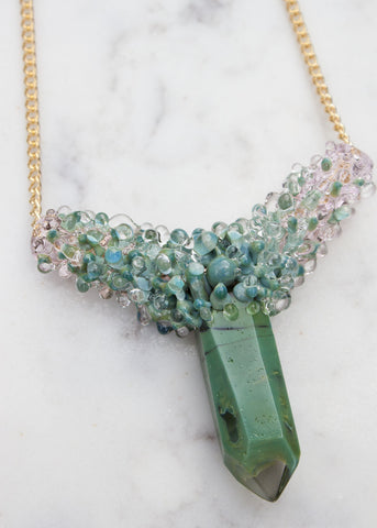 One of A Kind // Glass Crystal Necklace