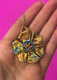 Aura Floral Pendant Necklaces - Colors
