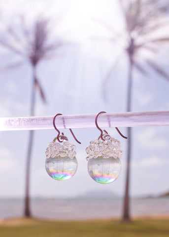 Aura Crystal Ball Earrings