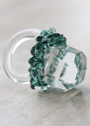 SALE // Glass Crystal Ring // Size 5