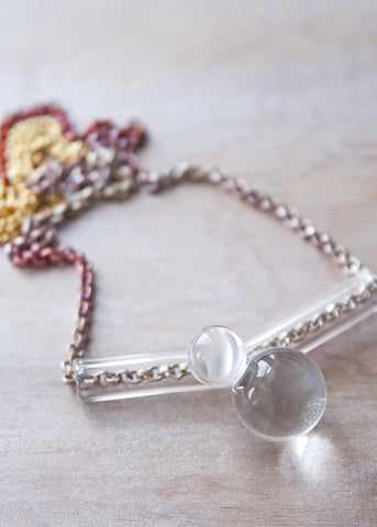 One Of A Kind // Orbs Tube Necklace