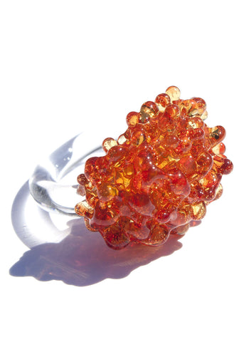 Glass Cluster Ring - Marigold