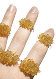 Glass Cluster Ring - Sunshine Yellow