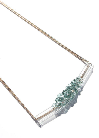 Glass Cluster Bar Necklace (Mini) - Choose Your Color