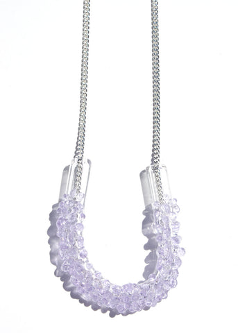Glass Cluster U Necklace - Choose Your Color