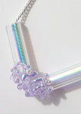 Aura Cluster Tube Necklace (Mini) No. 3
