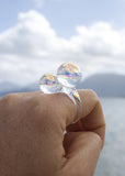 Aura Double Orb Ring - Size 9