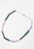 Multi Glass Tube Necklace - Color