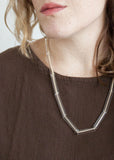 Multi Glass Tube Necklace - Clear