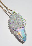 Aura Cluster Crystal Necklace No. 1