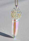 Aura Cluster Crystal Necklace No. 4