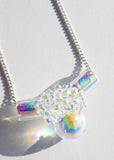 Aura Cluster Ball Tube Necklace