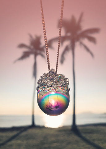 Aura Crystal Ball Necklace