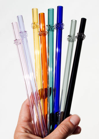 Glass Cluster Straws - Colors