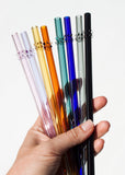 Glass Dot Straws