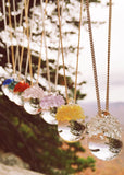 Glass Crystal Ball Necklace - Choose Your Color