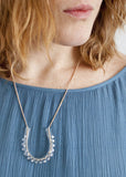 Glass U Dot Necklace - Choose Your Color