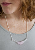 Glass Cluster V Necklace (Mini) - Choose Your Color