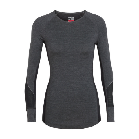 ICEBREAKER WOMEN'S BODYFITZONE 260 ZONE LONG SLEEVE CREWE