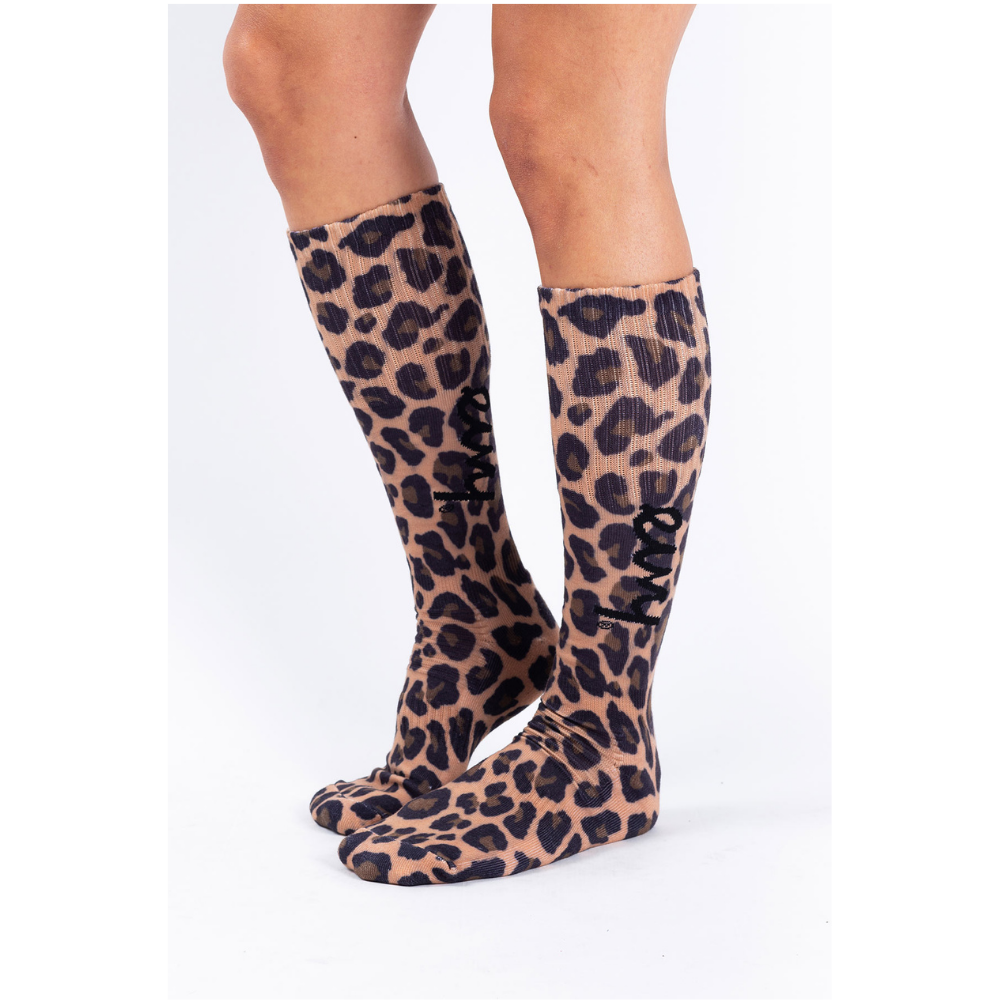 Leopard Print Mountain Socks