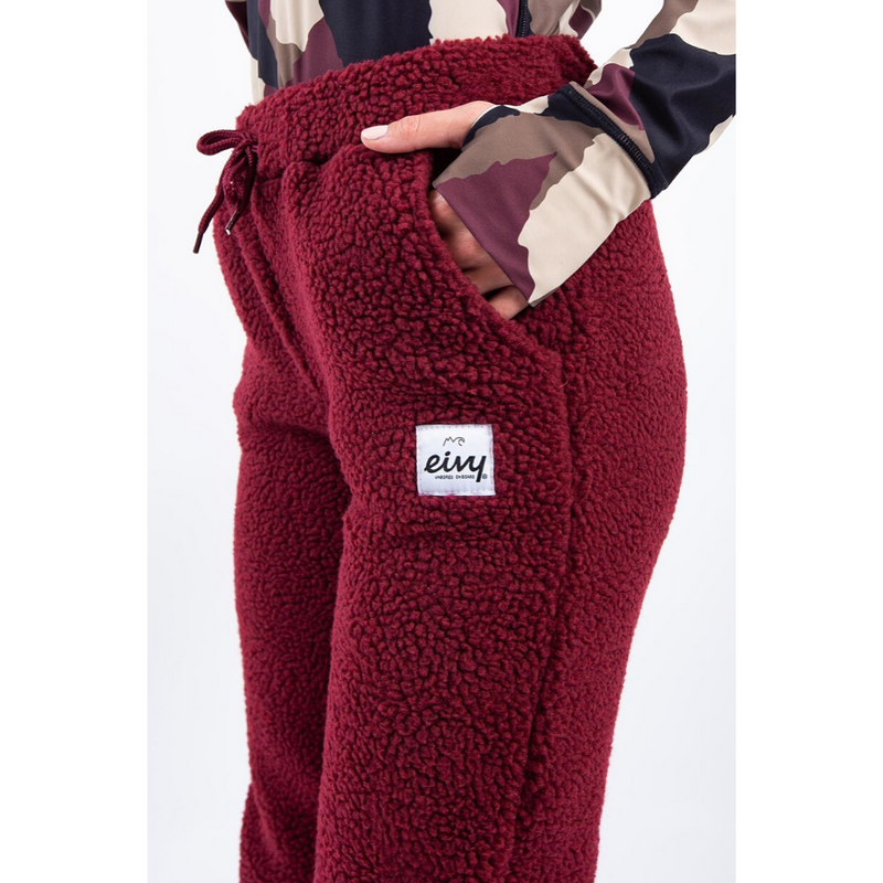 Eivy Womens Big Bear Sherpa Pants Wine - Latitude