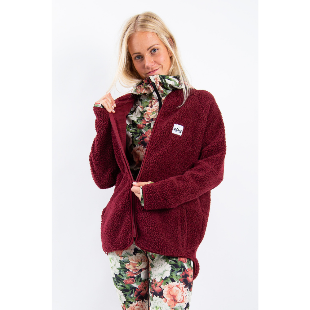 Eivy Womens Redwood Sherpa Jacket Wine - Latitude