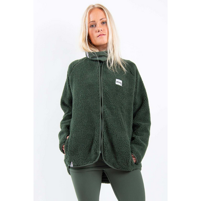 Eivy Womens Redwood Sherpa Jacket Forest Green - Latitude