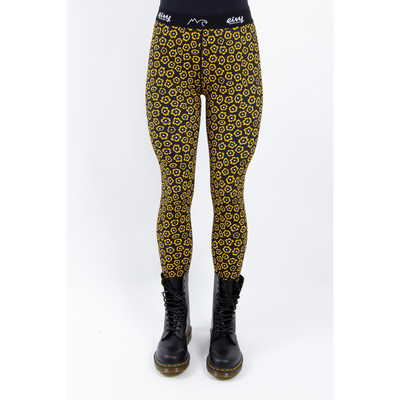 Eivy Womens Base Layer Tights Yellow Flower - Latitude