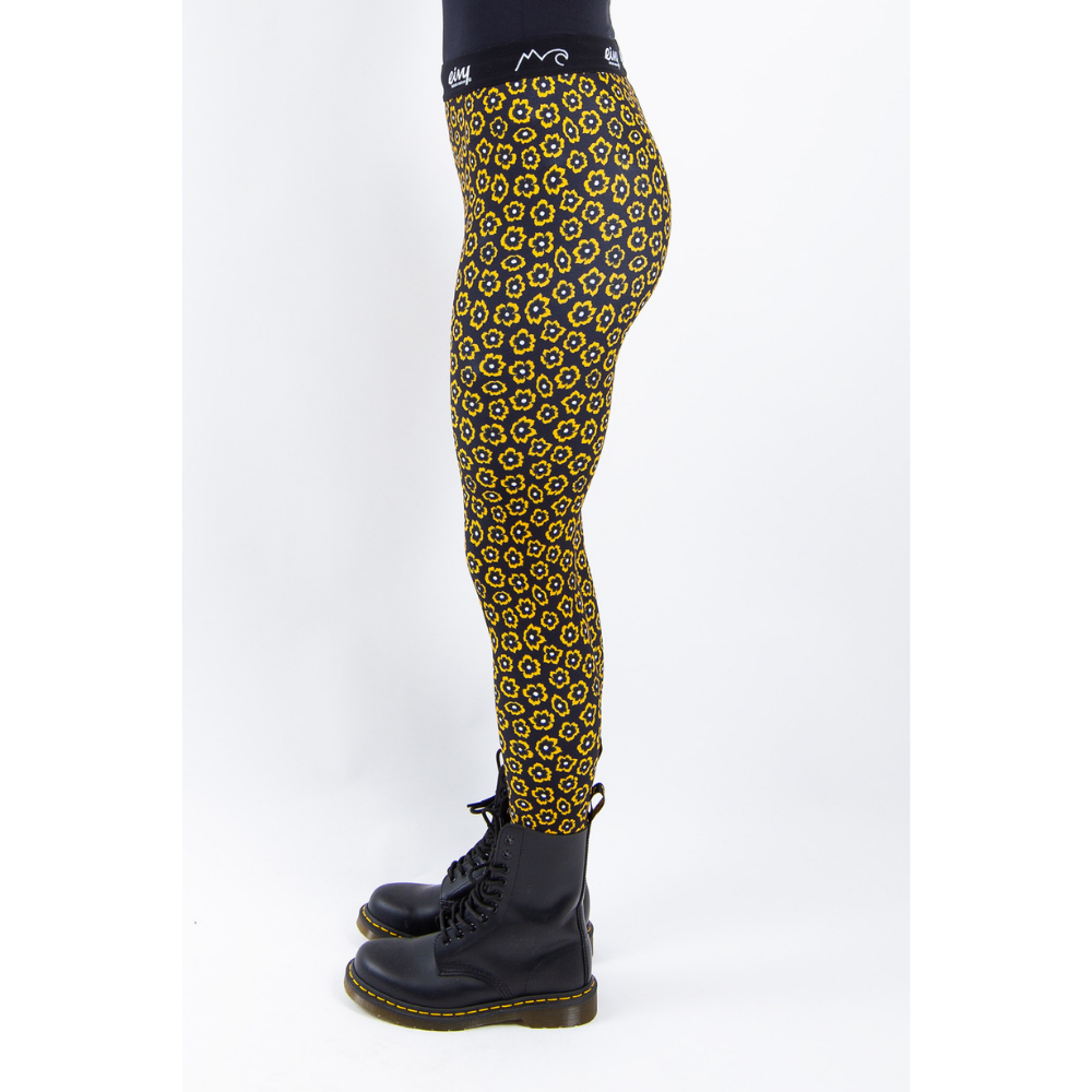 Eivy Womens Base Layer Tights Yellow Flower