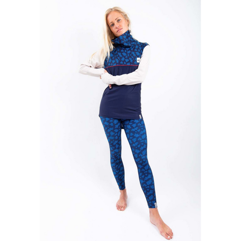 Eivy Womens Ski Base Layer Top Icecold Blue Flower