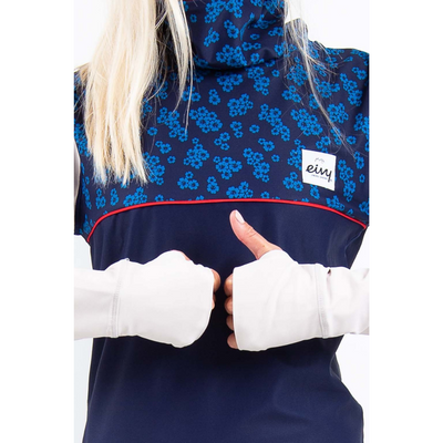 Eivy Womens Ski Base Layer Top Icecold Blue Flower - Latitude