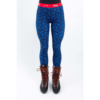 Eivy Womens Base Layer Tights Blue Flower - Latitude