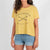 Passenger Clothing Womens Jinbei T-shirt Cream Gold - Latitude
