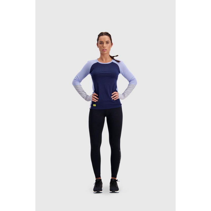 Mons Royale Merino Base Layer Top Bella Tech Navy