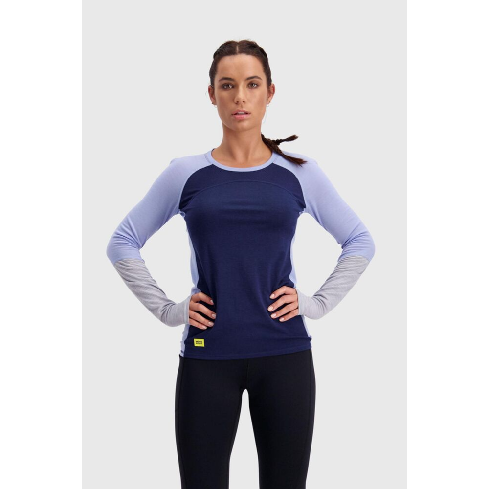 Mons Royale Merino Base Layer Top Bella Tech Navy - Latitude