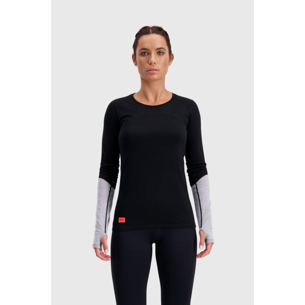 Mons Royale Merino Base Layer Top Bella Tech Black