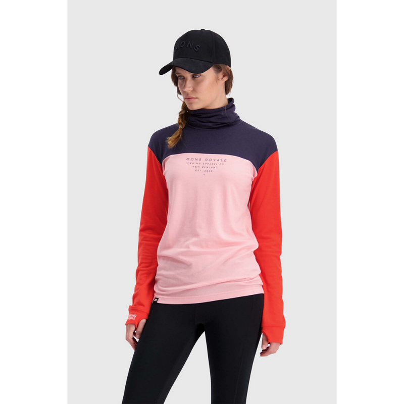 Mons Royale Merino Base Layer Top Yotei High Neck - Latitude