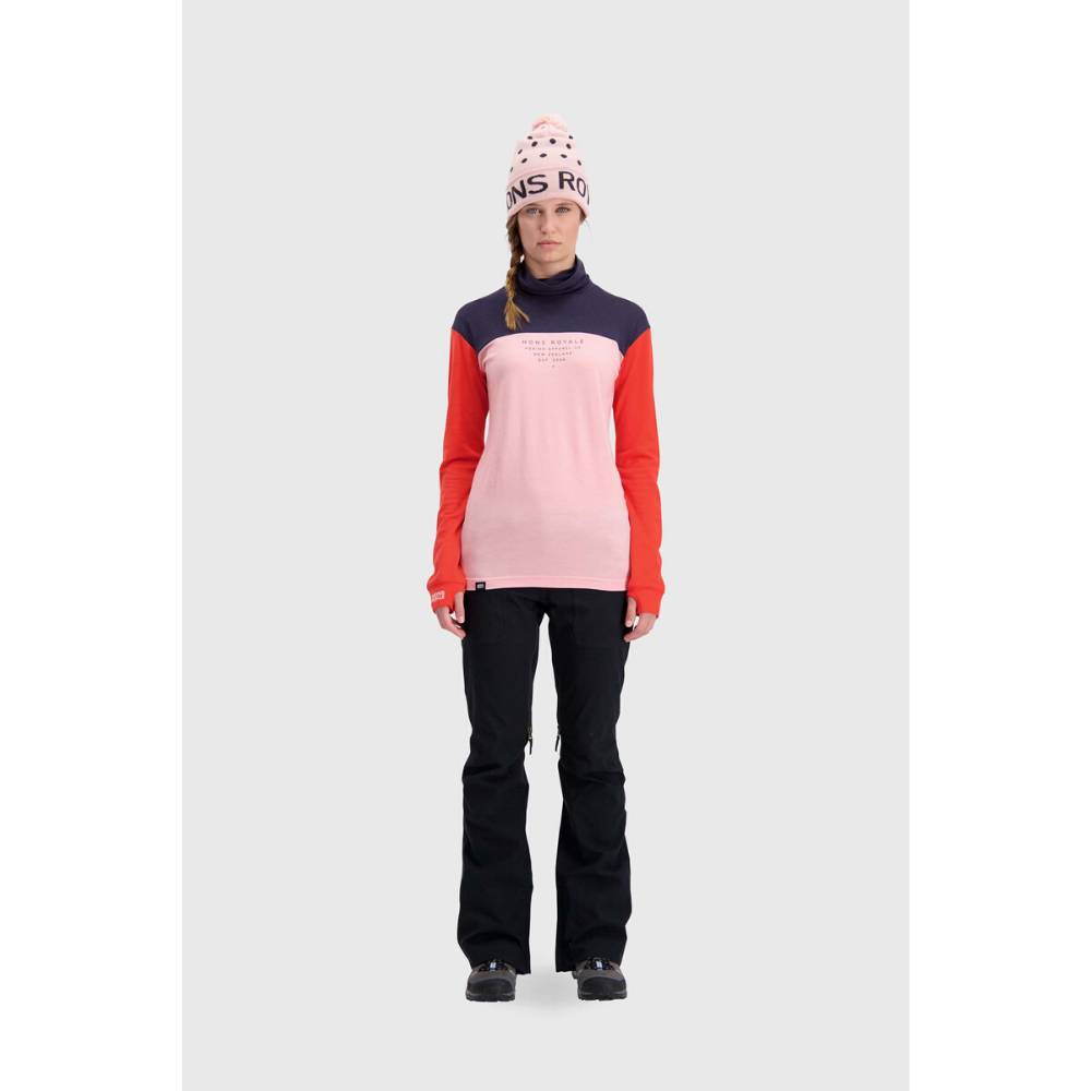 Mons Royale Merino Base Layer Top Yotei High Neck