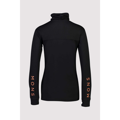 Mons Royale Merino Base Layer Top Yotei High Neck Black - Latitude