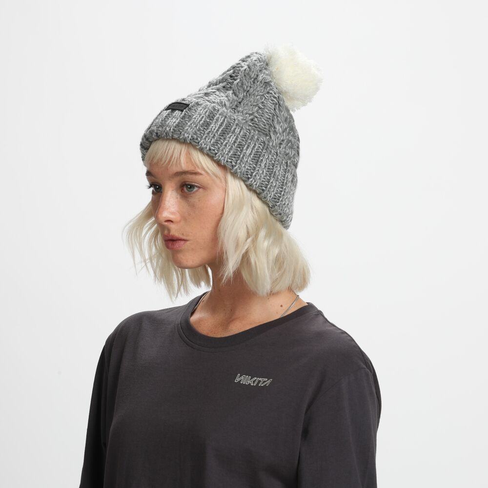 Nikita Womens Turf Beanie Neutral Grey - Latitude