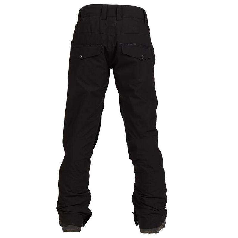 Nikita Womens Black Snowboard Pants Stretch White Pine