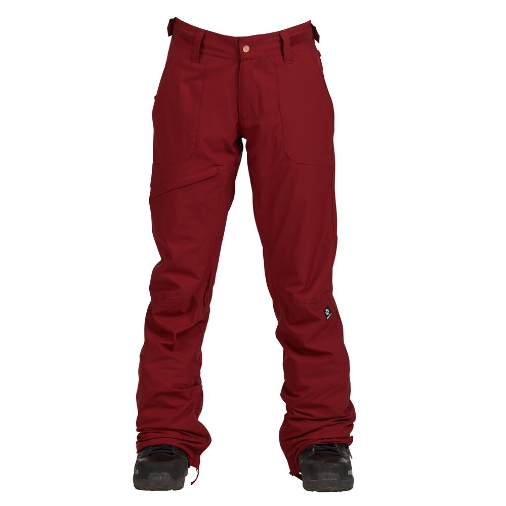 Nikita Womens White Pine Stretch Snowboard Pants Merlot - Latitude