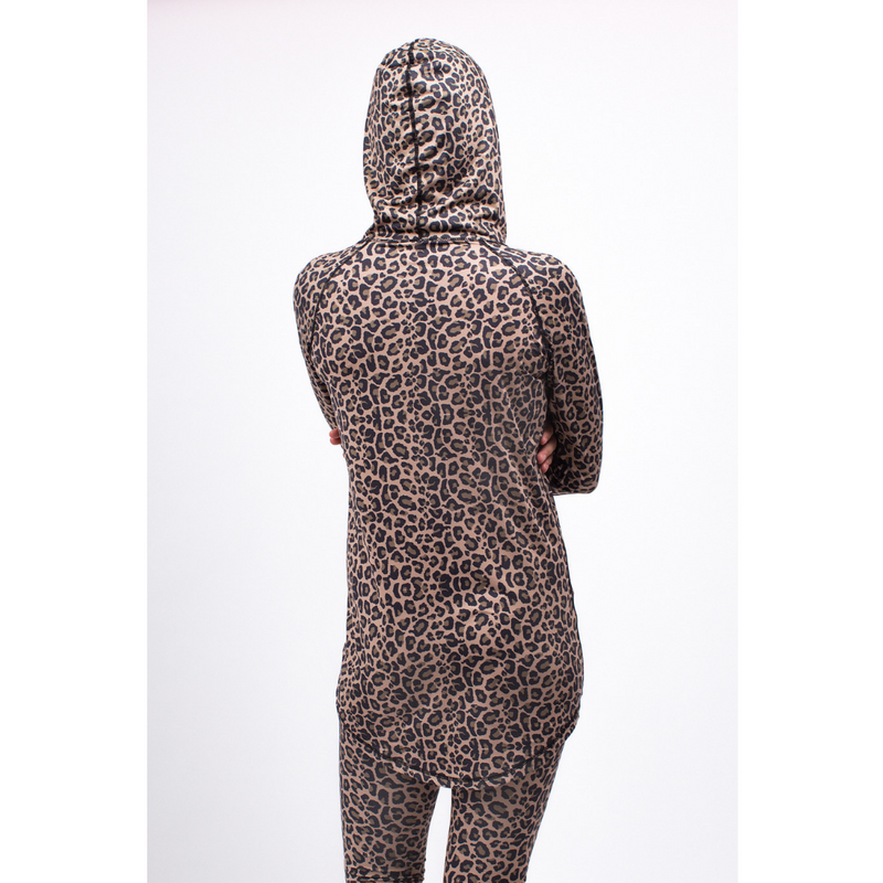 Eivy Womens Icecold Hood Base Layer Top Leopard - Latitude