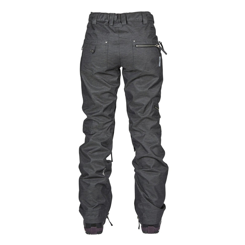 Nikita Womens White Pine Snowboard Pants Black - Latitude