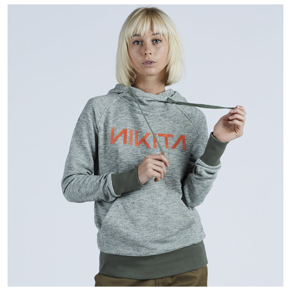 Nikita Womens Reykjavik Solid Po Hoodie Fatigue - Latitude